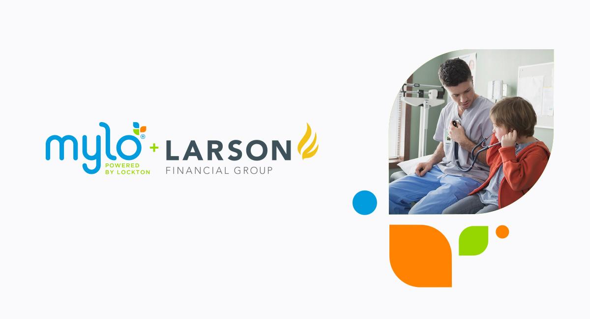 Mylo and Larson Financial Group logos