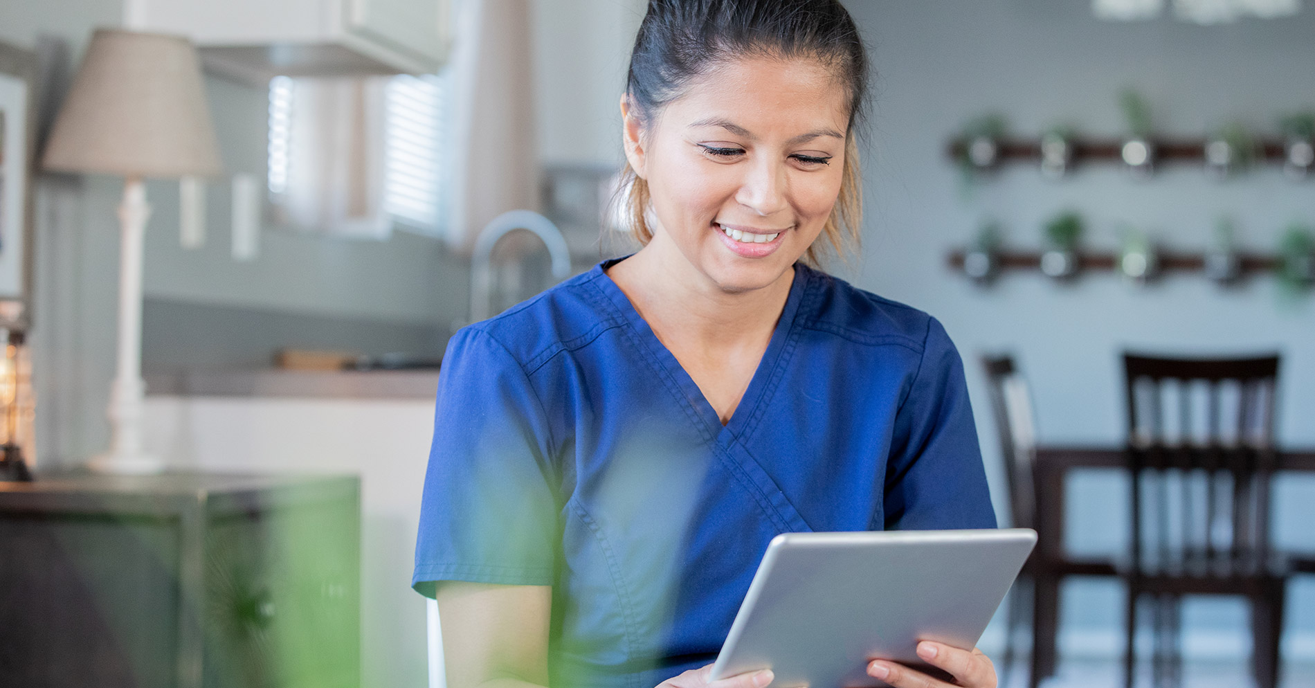 Doctor office telehealth services on ipad